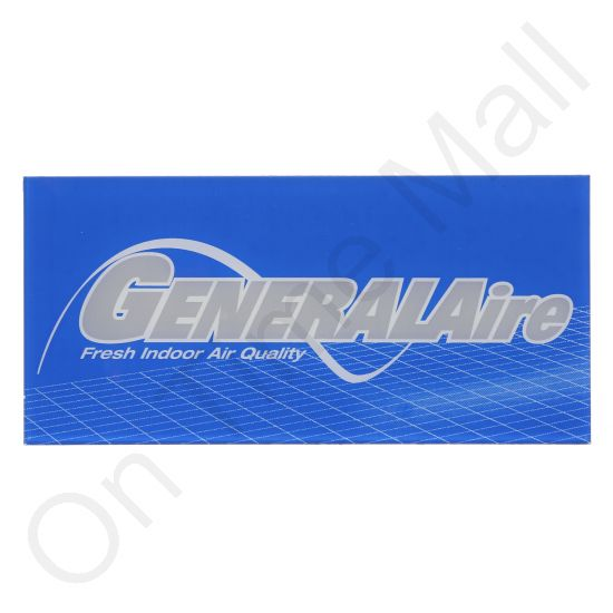 General Aire 1042-10 Inspection Name Plate